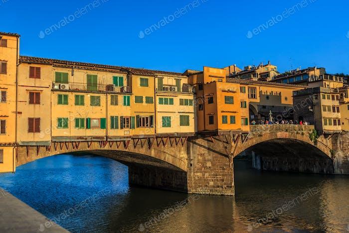 Brücke Ponte Vecchio, Italien