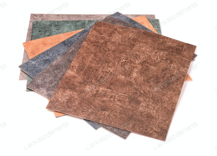 Samples of  linoleum collection