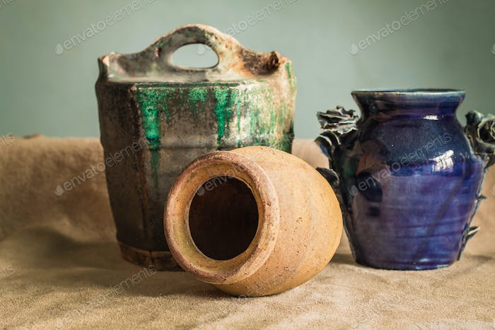 Jars and pottery