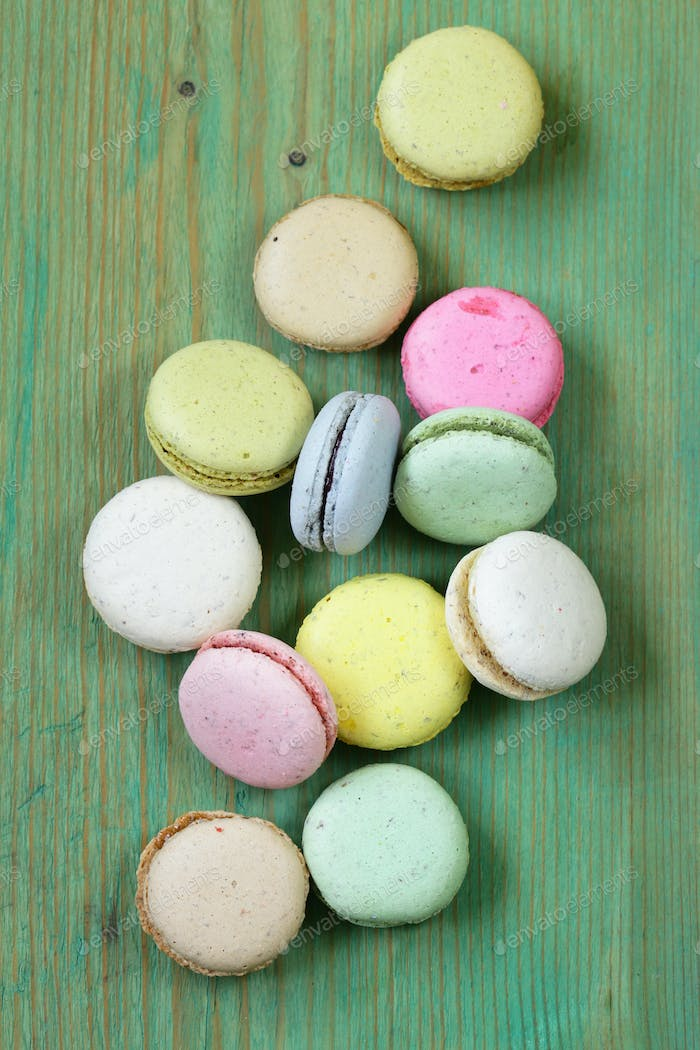 Multicolored French Almond Cookies