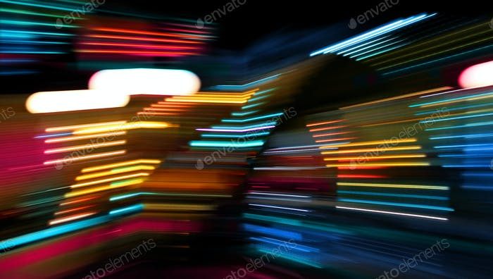 Color lights moving