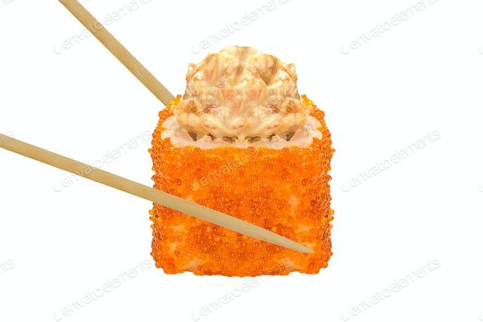 sushi roll isolated