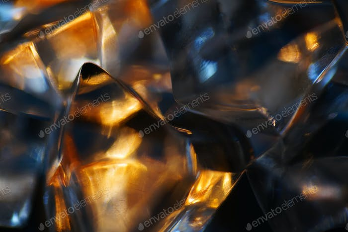 An abstract look of crystal and warm light