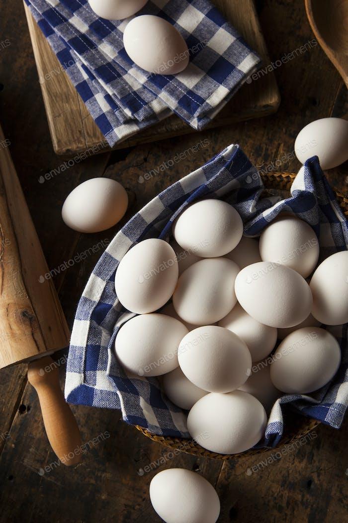 Thumbnail for Raw Organic White Eggs