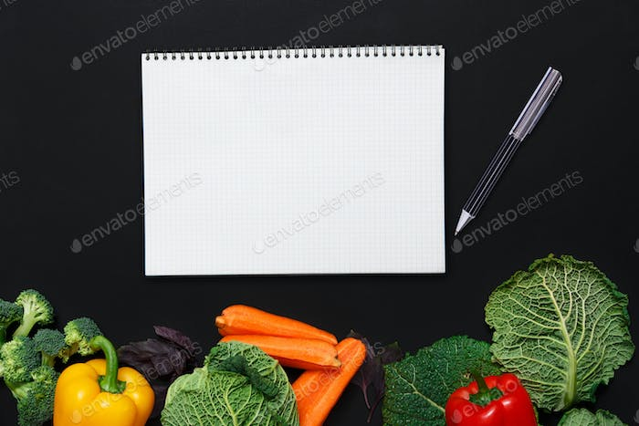 Mockup for healthy dishes recipes