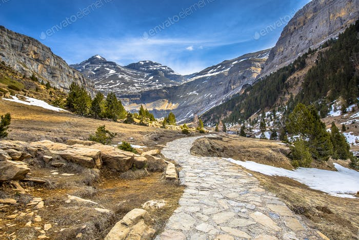 Track in Ordesa valley Spain