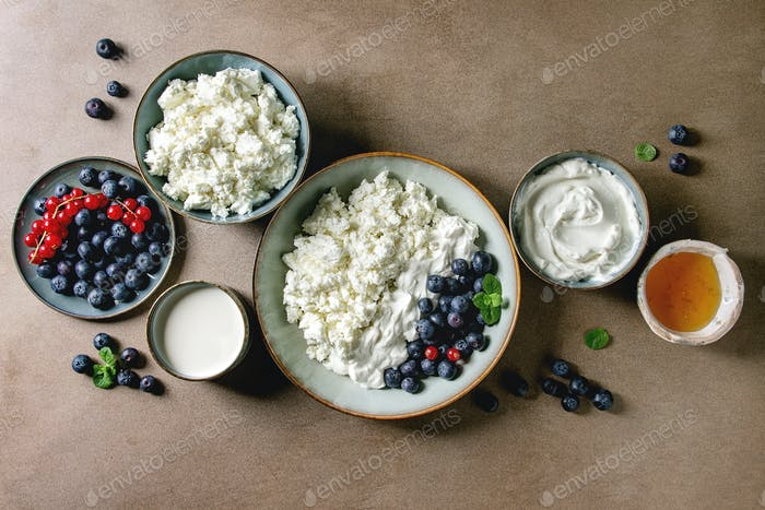 Dairy produce for breakfast
