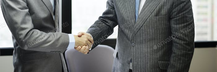 Business People Handshake Greeting Deal Concept