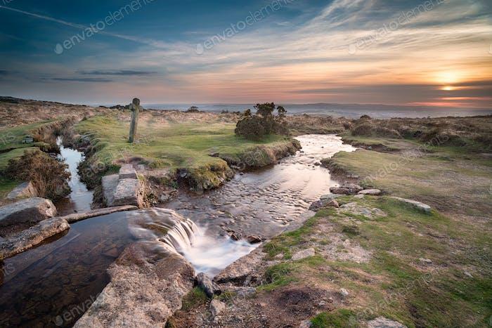 Sunset on Dartmoor