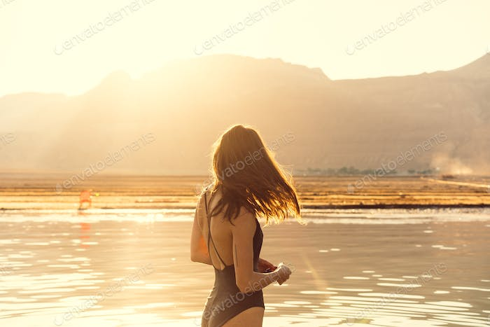 Thumbnail for Young woman going to Dead Sea, Israel
