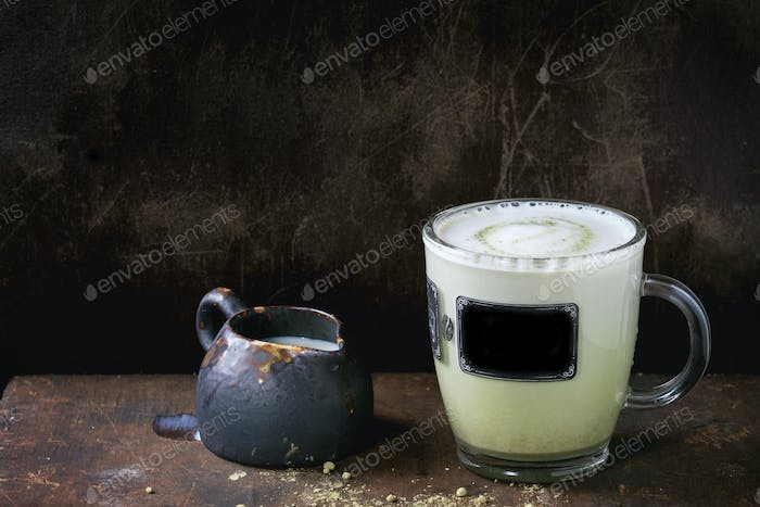 Matcha latte with milk