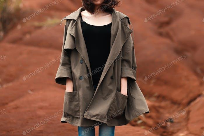 Woman on coat