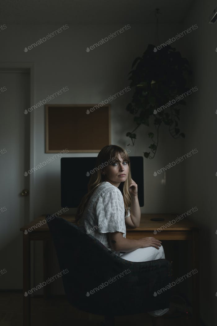 Woman working from home during the coronavirus pandemic