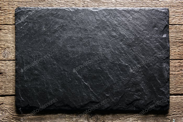 Black slate texture closeup