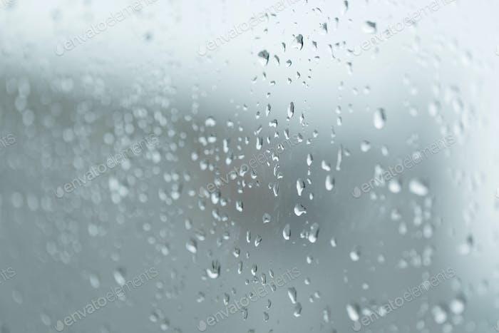 Heavy rain on the window