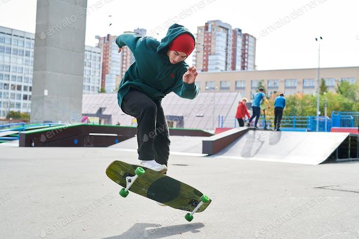 Teenager in Skate Park