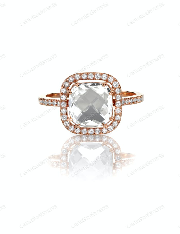 Cushion Cut Diamond Wedding band engagement ring