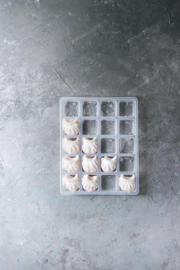 Frozen Asian steam dumplings