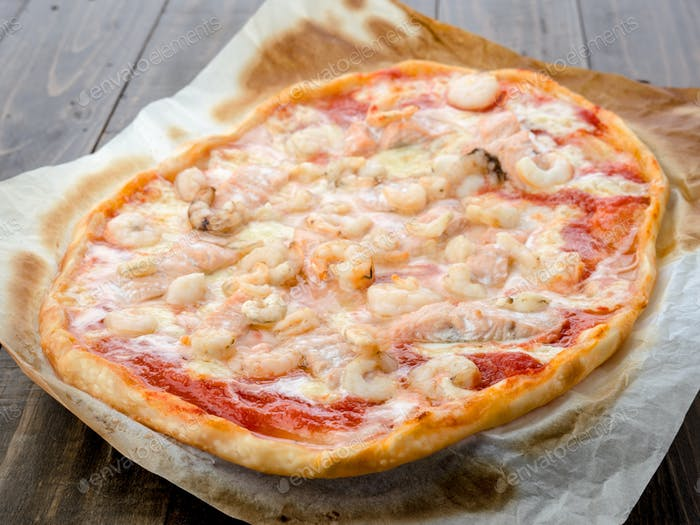real homemade baked pizza