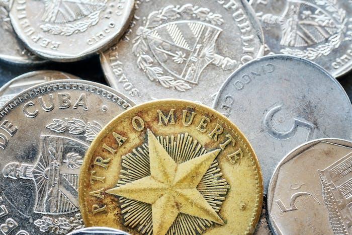 Extrem Nahaufnahme Bild von kubanischen Peso.