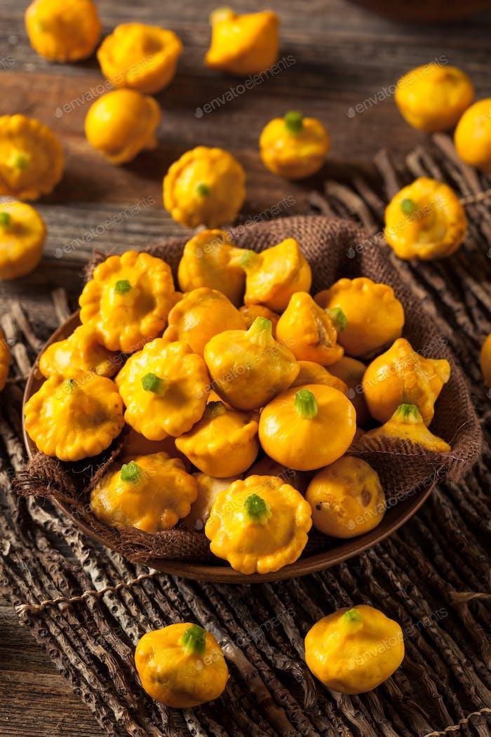 Raw Organic Yellow Pattypan Squash