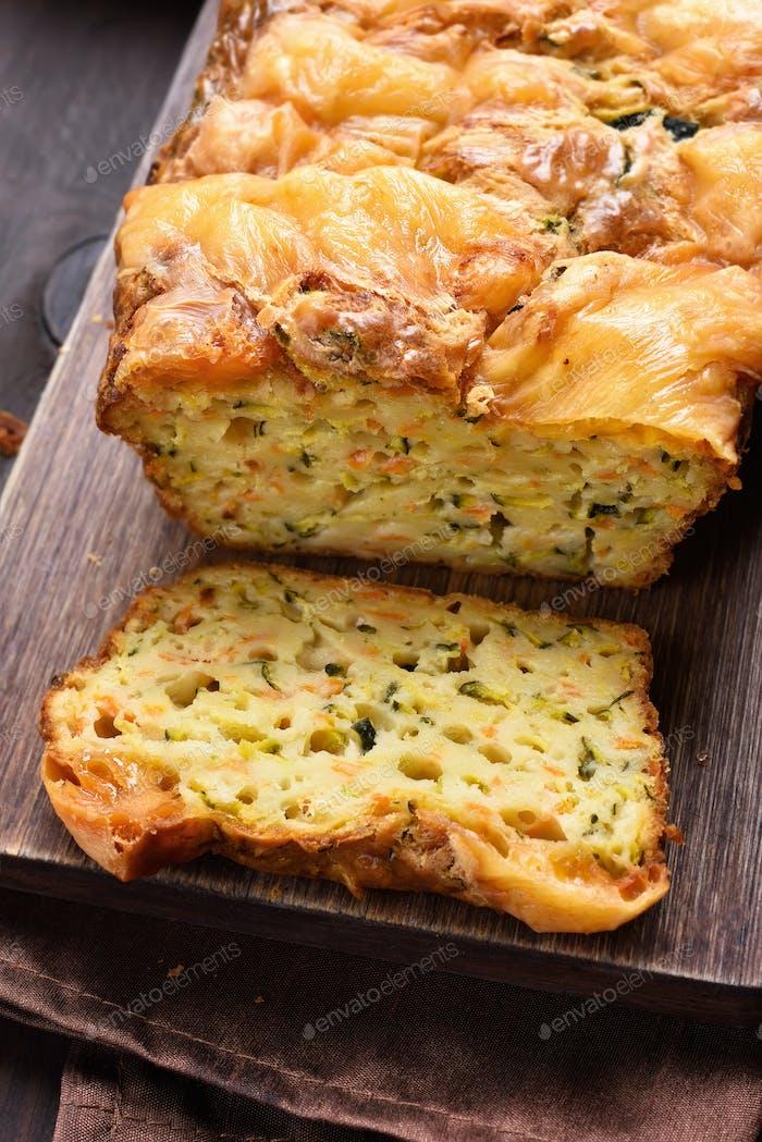 Moist vegetable bread