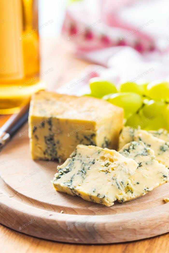 Tasty blue cheese.