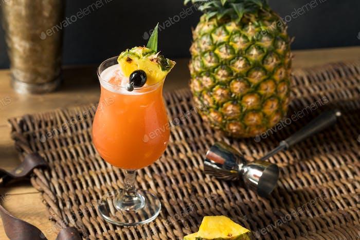 Homemade Refreshing Singapore Sling Cocktail