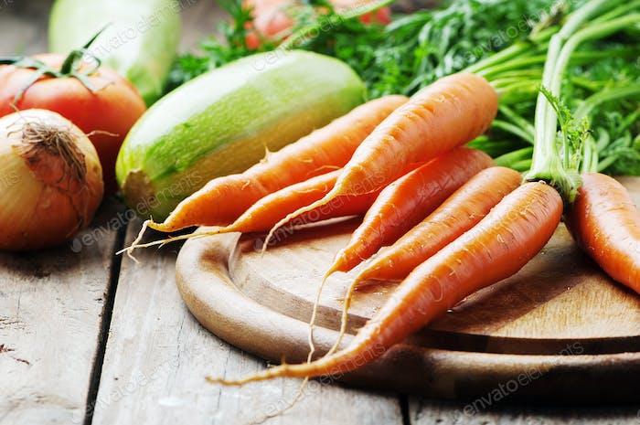 Konzept der gesunden veganen Ernährung