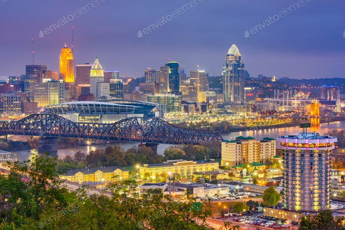 Cincinnati, Ohio, USA Skyline