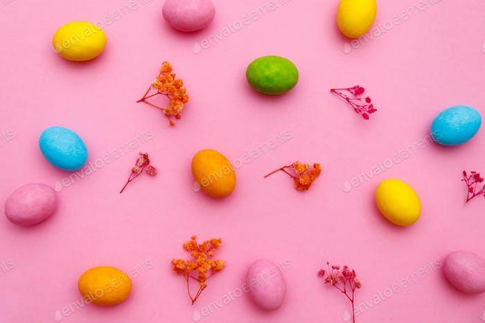 Frohe Ostern Urlaub Hintergrundkonzept.
