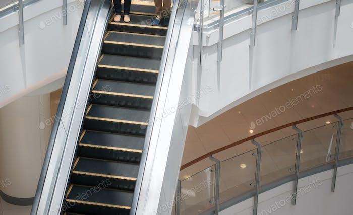 Escalator heading down
