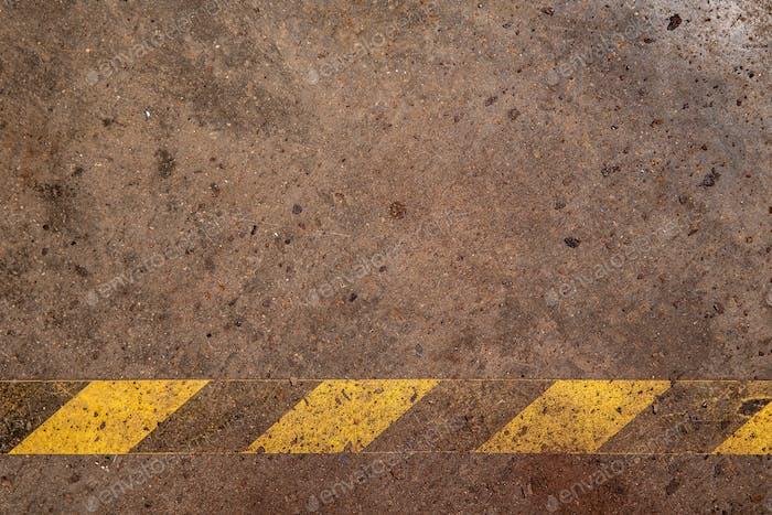 Gelb-schwarze Signalleiste