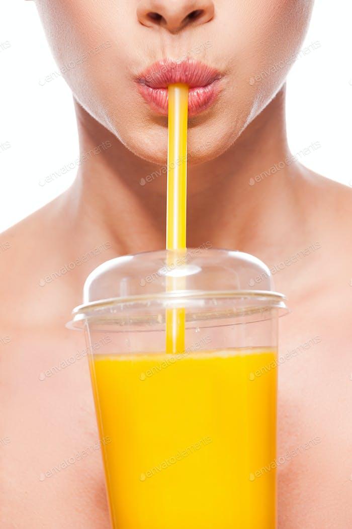 Nothing but the fresh orange juice!