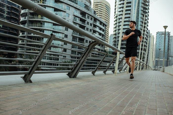 Correr es parte de su rutina diaria