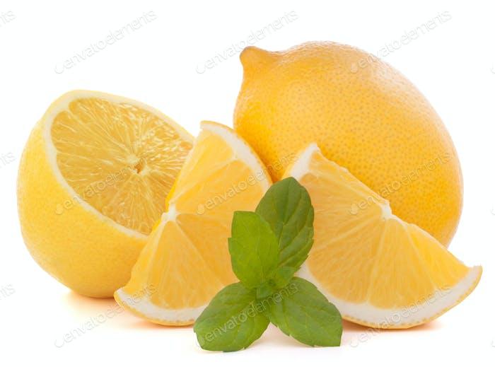 Zitrone oder Zitrone Zitrusfrüchte