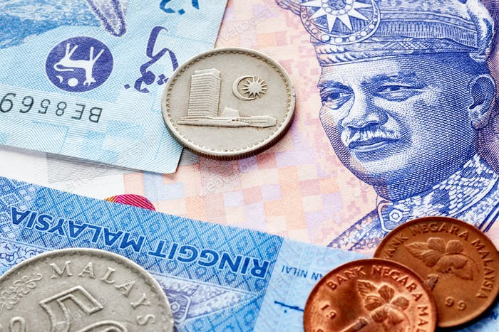 Close up picture of Malaysian ringgit