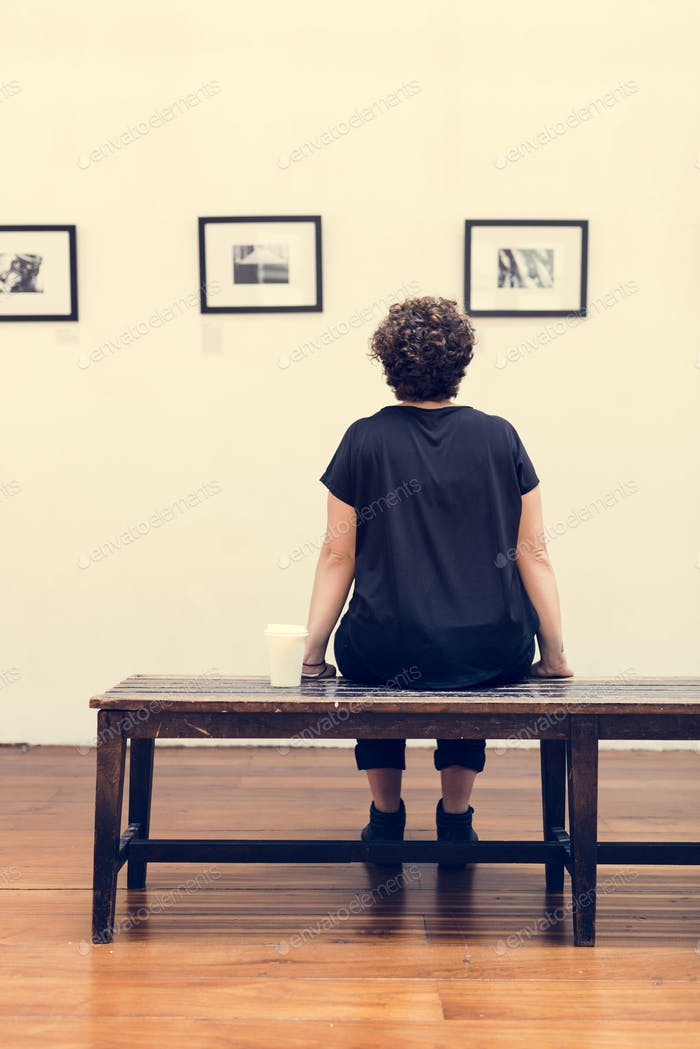 People looking at frames in an exhibition photo by Rawpixel on ...