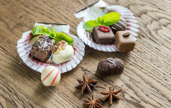 Luxuriöse Schokoladenbonbons