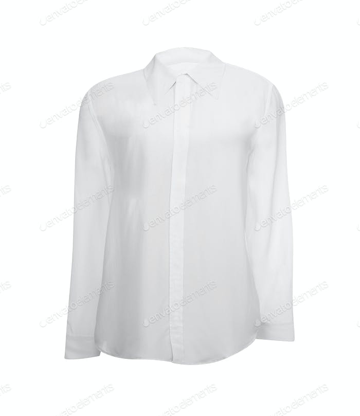 white shirt with long sleeves isolated