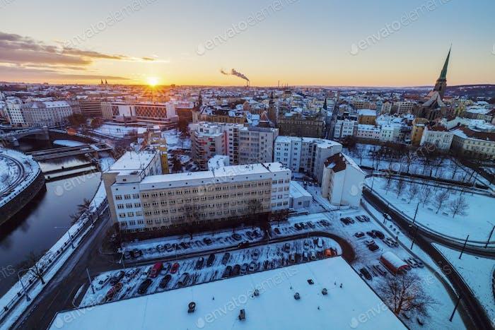 Aerial view of Pilsen