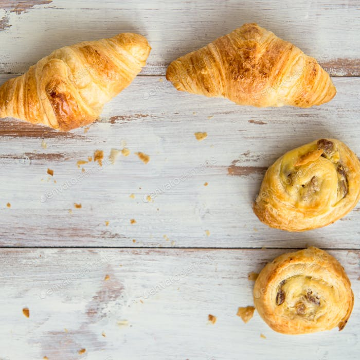 Freshly Baked French butter Pastries