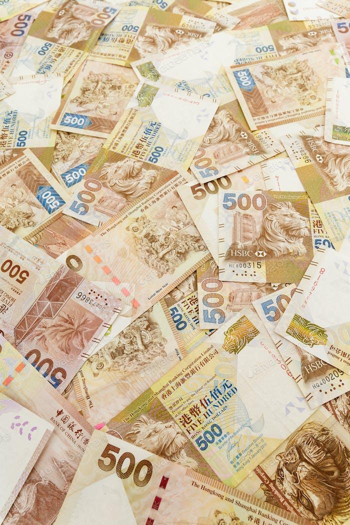 Hong Kong banknote, five hundred dollar