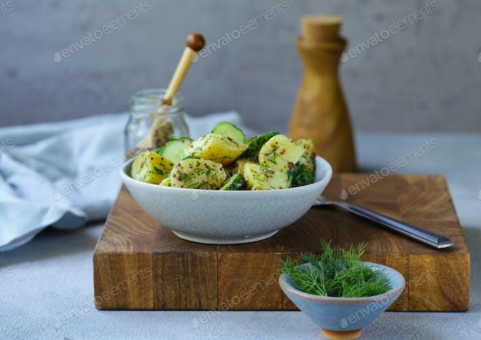 Potato Salad with Cucumber