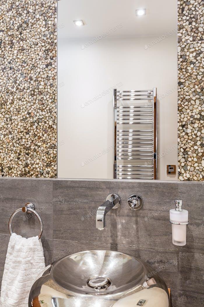 Bathroom with modern sink
