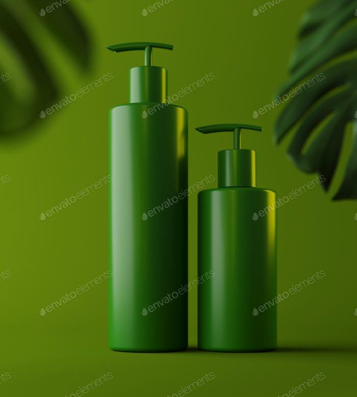 PräsentationsVorlage die Produktplatzierung mit grünem Hintergrund, Magazin.