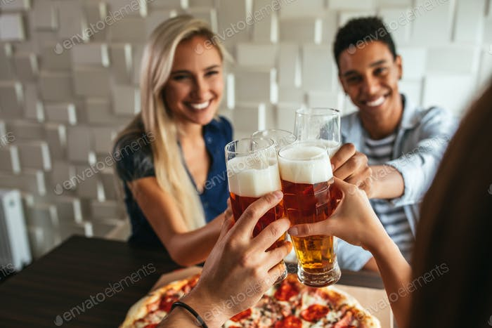 Pizza and beer is all the therapy you need