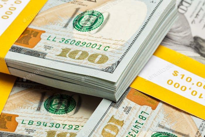 Background of new 100 US dollars 2013 bills