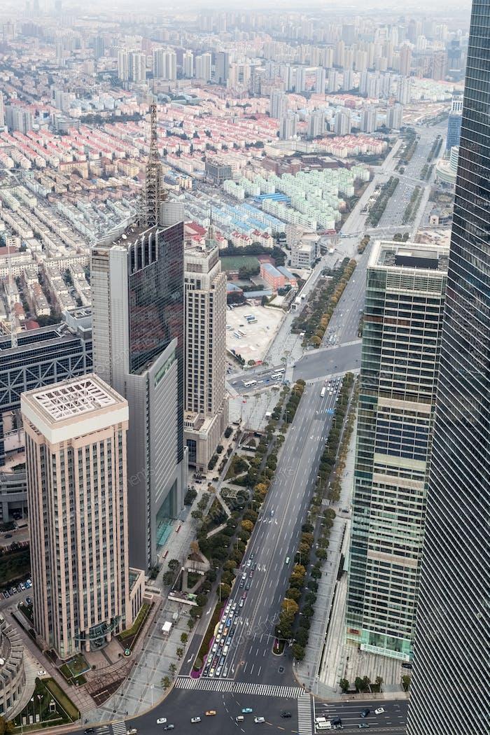 overlooking shanghai lujiazui