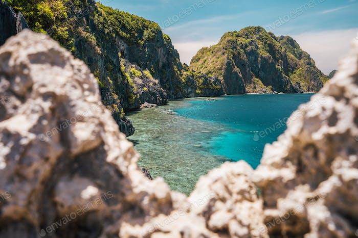 Der berühmte Spoton der Insel Matinloc, El Nido, Palawan, Philippinen